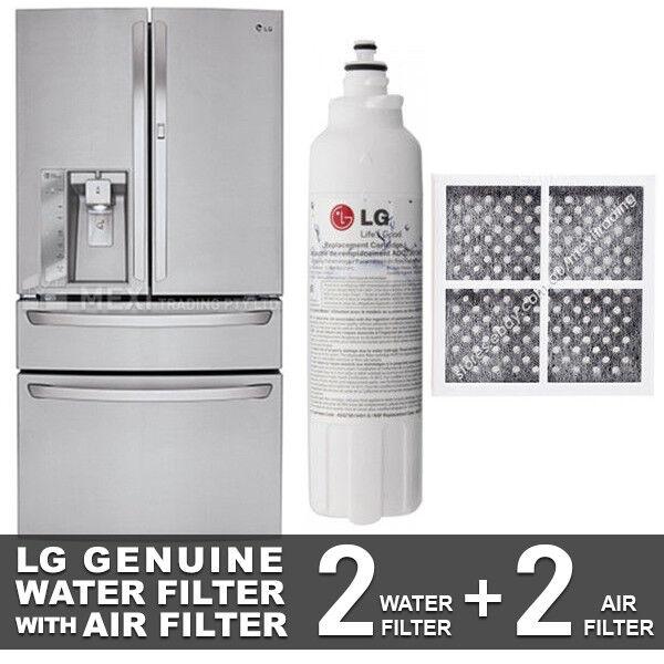 LG GENUINE 2X GF-AD910SL.ASTRGAP WATER FILTER + 2X LG AIR FILTER LT120F