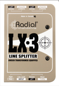 Radial LX3 Line splitter, passive, 1 input, 1 direct out BEST OFFER R063