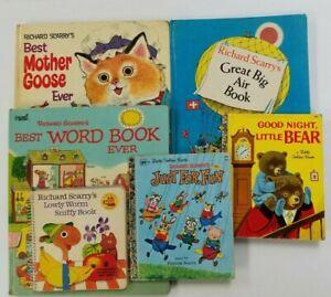Lot-of-6-VTG-Oversize-Golden-Richard-SCARRY-Picture-BOOKS-C84