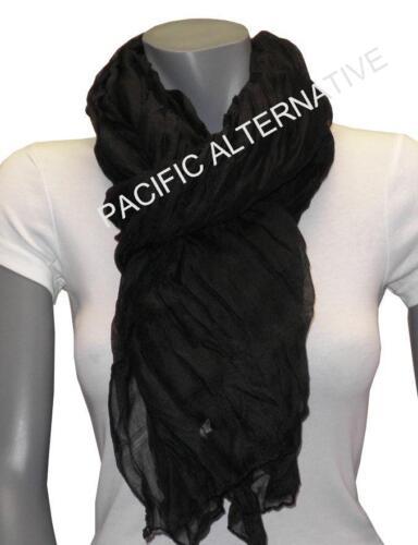 Foulard Noir grand gros 110x170 femme mixte chale leger echarpe NEUF scarf schal