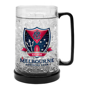 Melbourne-Demons-AFL-Logo-Ezy-Freeze-Beer-Mug-Stein-AFL-OFFICIAL-MERCHANDISE