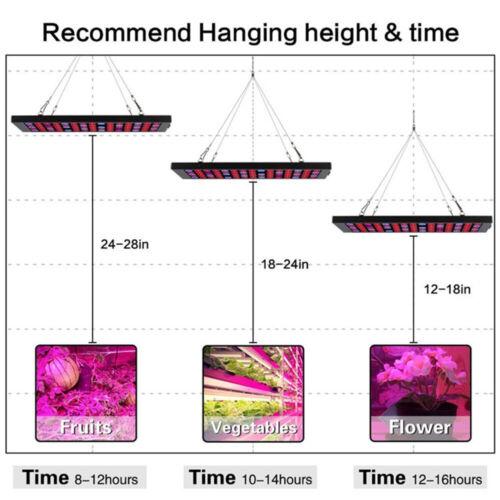 LED Grow Light Panels Full Spectrum Hydroponic Indoor Veg Flower Plant Lamp 600W