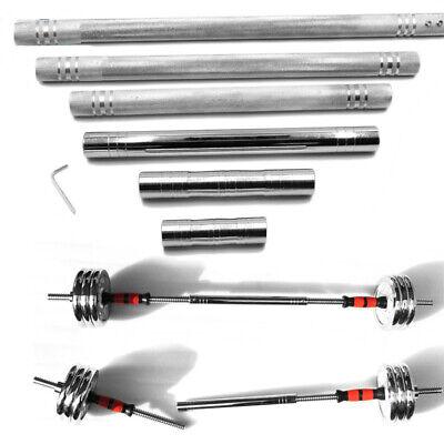 Dumbbell Extension Bar Steel Barbells Extender Weight Bar Connect Rods