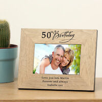 50th Birthday gift for him or her with engraved message Cellini Gifts Unique #1