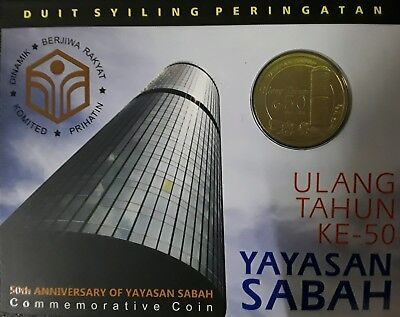 B.U. MALAYSIA 2016 50TH ANNIVERSARY OF YAYASAN SABAH NORDIC GOLD COIN