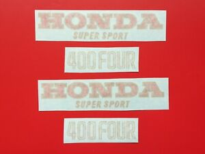 HONDA-400-FOUR-F1-TANK-SIDE-PANELS-RED-GOLD-DECALS-FOR-BLUE-TANK-1975-76