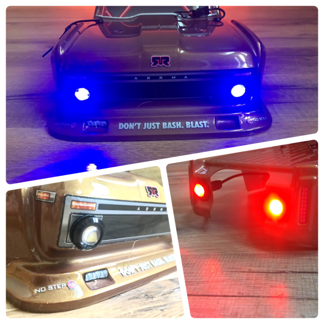 Arrma Losi HPI Traxxas  Blue and Red RC LED HD Light Kit Only-HDBW2R