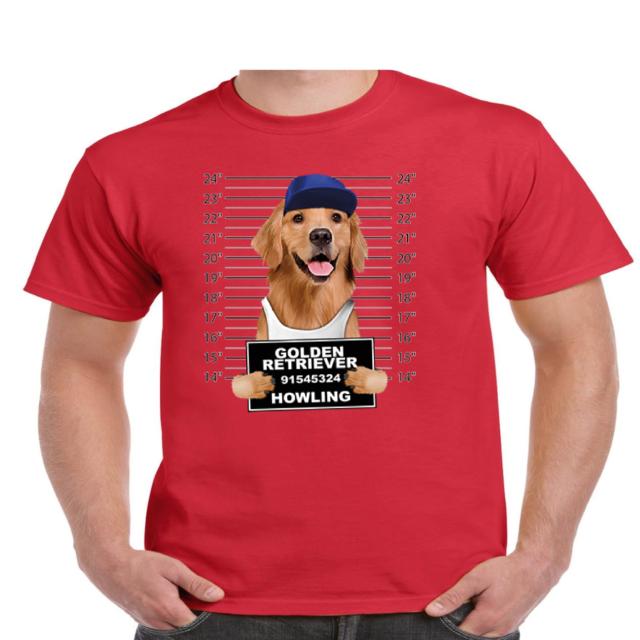 Golden Retriever In Pocket Cute Little Dog Men T-Shirt Cotton S-6XL