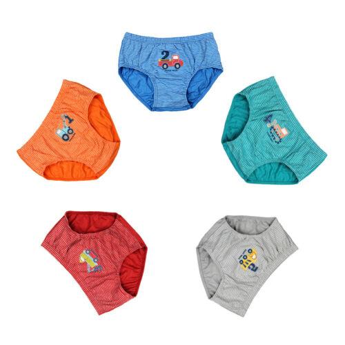 5Pcs//Set Cartoon Car Kids Underwear Baby Children/'s Boxer Underpants Boys Briefs