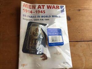 VINTAGE-NEW-OSPREY-PUBLISHING-DEL-PRADO-LEAD-SOLDIER-US-PARAS-1914-1945-NO-63