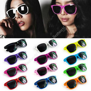 Fashion-Retro-Vintage-Unisex-Trendy-Cool-Sunglasses-12-Colors-B9
