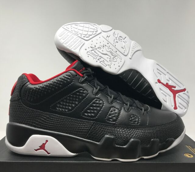 Nike Air Jordan 9 Retro Low IX Bred Black Red Mens Chicago Bulls Aj9 ... 946cfb242