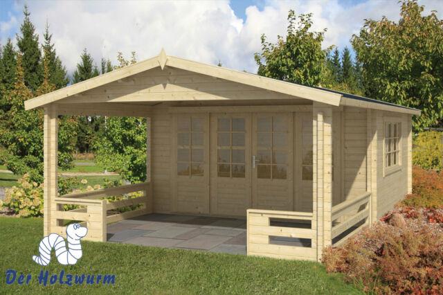 Gartenhaus Bristol Blockhaus 440x630 cm Holzhaus 58mm Gerätehaus Terrasse Holz