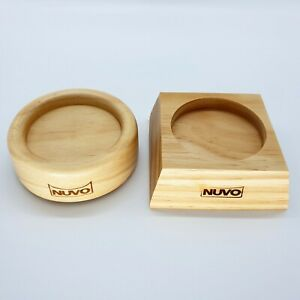 Nuvo Coffee Tamper Wood Holder Tray Stand 62 mm Luxurious Barista Tool Home Cafe