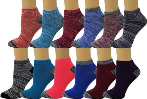 Details about  /Debra Weitzner Womens Cotton Ankle Socks 12 Pairs Low-Cut Socks Colorful Casual
