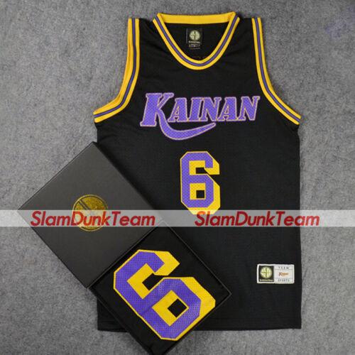 SLAM DUNK Cosplay Costume Kainan School Basketball #6 Jin Replica Jersey BLACK