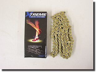 GO KART RACING RLV XTREME CHAIN #35 120 LINK NEW GOLD BLACK GEAR SPROCKET DRIVE