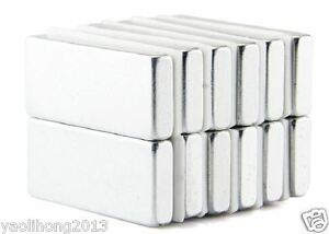 20pcs N50 Strong Block Cuboid Bar Magnets 30mm x 10mm x 4mm Rare Earth Neodymium
