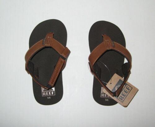 5//6 11//12 New Reef Kid/'s Little Twinpin Sandals Brown Boy/'s Size 3//4