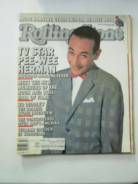 ROLLING STONE MAGAZINE ISSUE FEBRUARY 12 1987 NO. 493 PEE-WEE HERMAN Bo Diddley