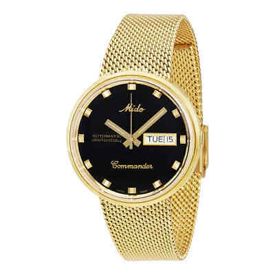 Mido Commander I Automatic Yellow Gold PVD Unisex Watch M842932813