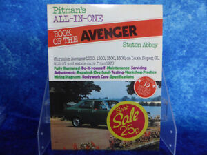 Pitman's All-In-One Book of the AVENGER Staton Abbey PB Book Chrysler DIY 1976