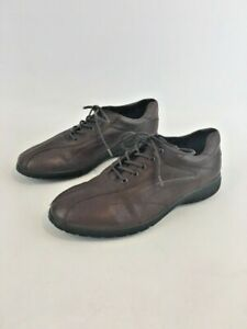 ECCO-Women-039-s-Brown-Leather-Lace-Up-Bicycle-Toe-Oxfords-EU-Sz-39-US-Sz-8-8-5