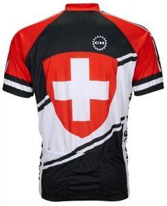 d61085807 Image is loading World-Jerseys-Men-039-s-Switzerland-Cycling-Jersey