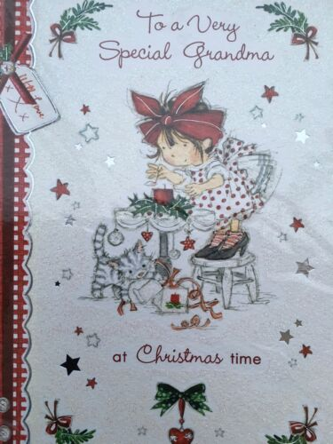 Noël-carte à un très spécial grand-mère