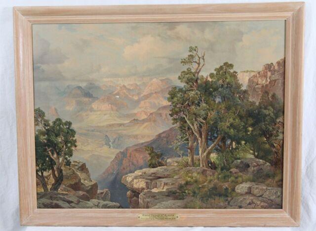 Thomas Moran Grand Canyon Antique Chromolithograph Print Framed