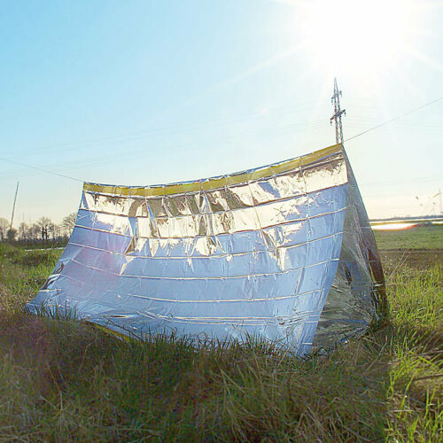Semptec Notfall-Zelt für 2 Personen ultraleicht kältedämmend hitzeabweisend