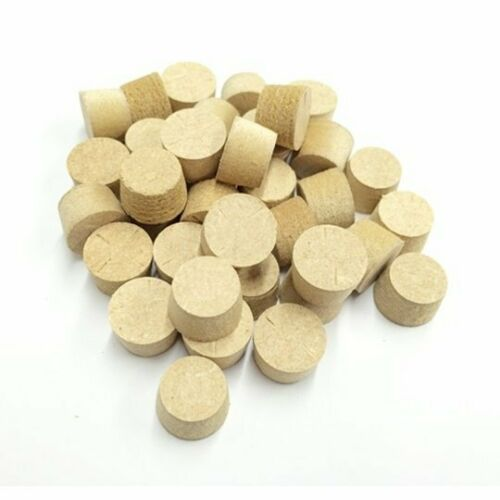 8mm Brown MDF Tapered Wooden Plugs 100pcs