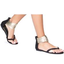 a5a5384abb4 item 7 Womens Ankle Strap Thong Gladiator Sandal Metallic Glitter Flip  Flops Shoes Size -Womens Ankle Strap Thong Gladiator Sandal Metallic  Glitter Flip ...