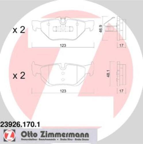 BELÄGE HINTEN BMW 1er Coupe 1er Cabriolet 3875708 ZIMMERMANN BREMSSCHEIBEN