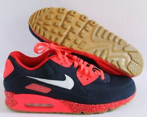sale retailer 16ea8 a173c Image is loading NIKE-AIR-MAX-90-ID-NAVY-BLUE-RED-