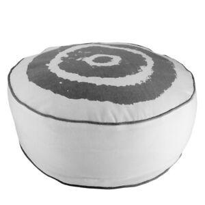 Sitzkissen Kissen Batik Optik grau weiß Sitzsack Pouf Hocker 50x20 cm