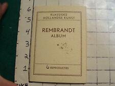 REMBRANDT album Klassieki Hollandse Kunst Real Photo Poster Cards
