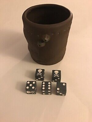 Pirates of the Caribbean 5 Skull PIRATE DICE /& Cup Game PARTS GAME HIGH SEAS