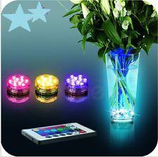 Neu 1 Stück RGB LED Unterwasserlicht Vase Aquarium Beleuchtung