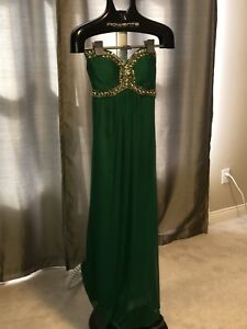 evening-dress-Gown-Sequins-Green-Size-4-Homecoming-Prom