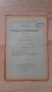 Compendio Mensile - Rivista Di SCUOLA Antropologia Di Parigi - 1901 - N°2
