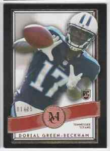 2015-TOPPS-MUSEUM-COLLECTION-RUBY-DORIAL-GREEN-BECKHAM-RC-1-25-TENNESSEE-TITANS