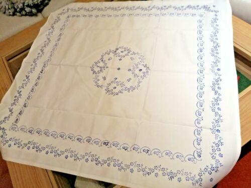 Blaudruck Tischdecke passt zu  blaublüte Arzberg   Damast 80 x 80 cm fleur neu
