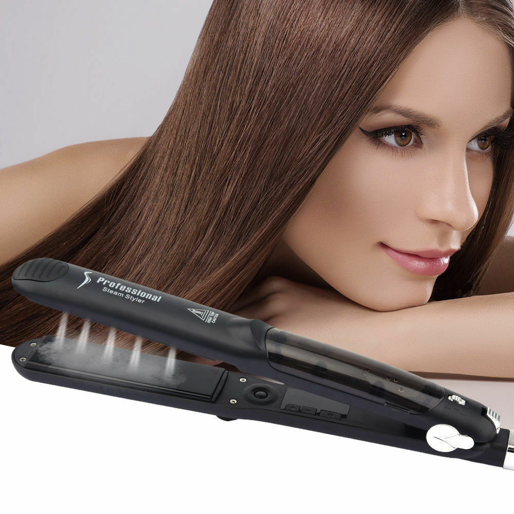 Professional Argan Oil Vapor Ceramic Flat Iron Steam Hair