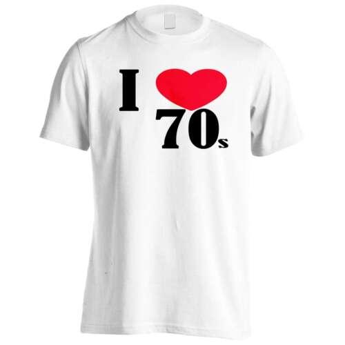 I Love 70 S Divertenti Novità T-shirt Uomo//Tank Top gg57m