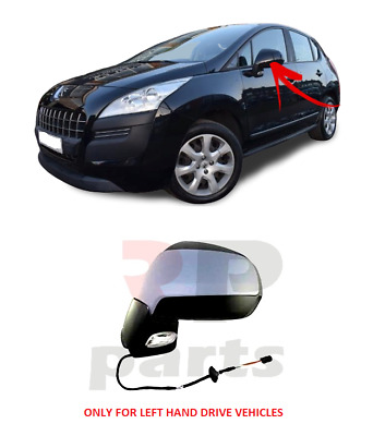 Right Driver side Flat Wing door mirror glass for Peugeot 5008 2009-2016