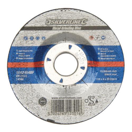 260249 Métal angle disque de meulage osa accrédités 115 x 6 x 22.23mm déprimée