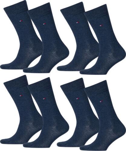 8 paia Tommy Hilfiger Calze da uomo calze classico 43-46 JEANS BLU