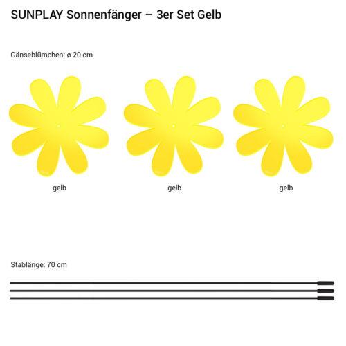 Gartenstecker versch SUNPLAY Sonnenfänger Ø20cm Sets Suncatcher Farben