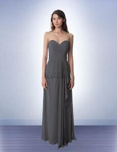 30e43648e44 Bill Levkoff Bridesmaid Dress 978 Prom Wedding Long Gown Strapless